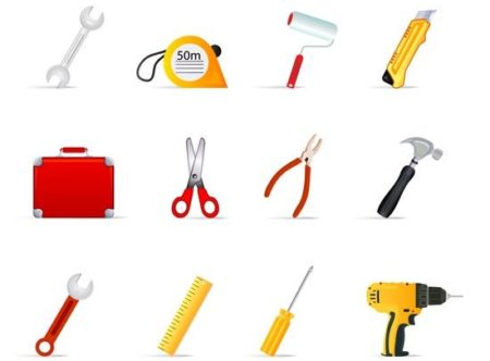 Construction-tools-collection-vector